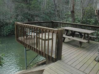 At Creek Bend Escape you can Fish Right Out Your Back Door! - Blairsville vacation rentals