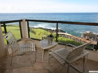 Poipu Shores 206A 2BR/2BA Fully Oceanfront Updated - Poipu vacation rentals