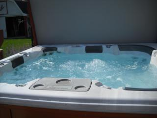 6 Person outdoor hot tub - Janell and Paul Davenport