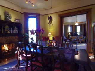 Dining Room & Sunrise on Winter Day - Welcome Inn Manor B&B on Michigan Avenue