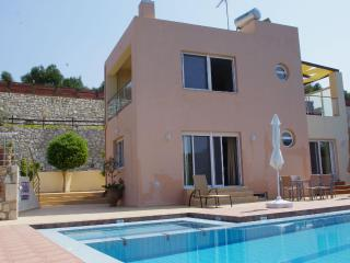 Villa Nefeli with sea view in Agia Marina - Crete vacation rentals