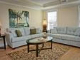 living room with sofa plus queen sleeper - 102 Pelicans Landing gorgeous 3 bedroom near pier - Tybee Island - rentals