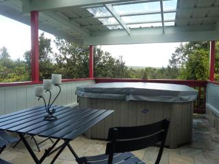 Mauna Kea and Mauna Loa view PRIVATE HOT TUB home - Volcano vacation rentals