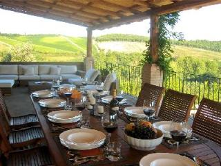Countryside Capanna Cerreto nestled in 50 acres of vineyards in gated area with saline pool & staff - Tuscany vacation rentals