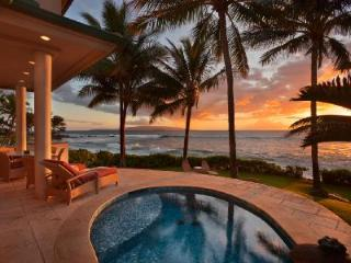 Waterfront Ocean Bliss villa with swimming beach access, heated plunge pool & close to golf - Makena vacation rentals