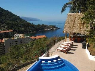 Hillside Casa Mismaloya- ocean views, infinity pool, jacuzzi, near beach - Terres Basses vacation rentals