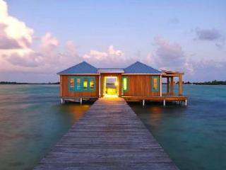 Intimate over-the-water bungalow Casa Ventanas 150 ft off island with glass floor - Ambergris Caye vacation rentals