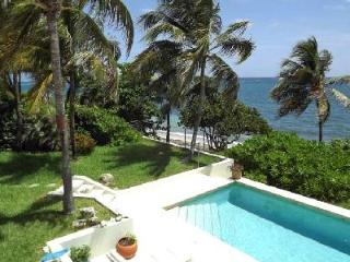 Beachfront Whispering Winds private, gated residence with pool & sun terrace off the master - Teague Bay vacation rentals