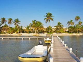 Beachfront El Pescador Villas offers stunning views, scuba diving instructor & daily maid - Belize Cayes vacation rentals