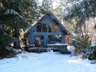 Mt Baker Rim Cbin #53 - A cozy cabin with a open fire place and outdoor hot tub. - Glacier vacation rentals