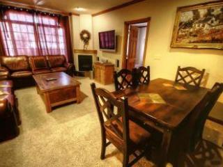 Living room and eating area - 2 Bedroom condo - Main Street - next to Town Lift - Park City - rentals