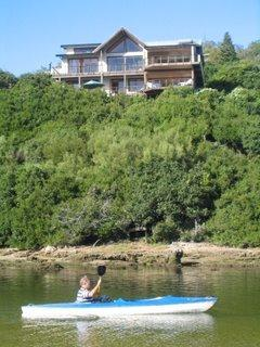 view of house from water - Sedgies  waterfront 4Bedrm  apt Central Garden Rt - Sedgefield - rentals