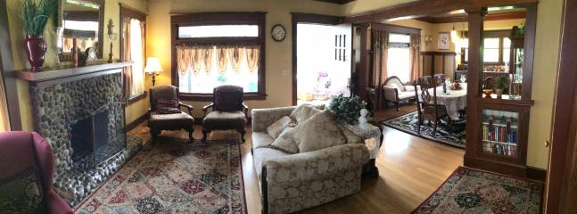 living room - The 1908 House - large historic home with hot tub - Portland - rentals