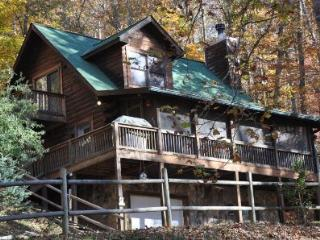 Whispering Woods Cabin - Log Cabin with Fire Pit, Internet, Hot Tub, and More - Bryson City vacation rentals