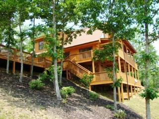 Sky Cove Retreat - Authentic Log Cabin with Dazzling Mountain View & Jetted Tub Just Minutes from Town - Bryson City vacation rentals