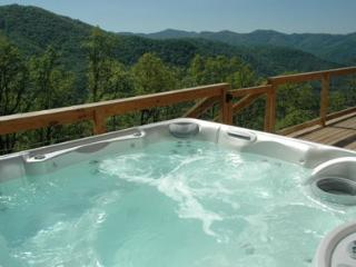 Wengen Chalet - Long Range Mountain Views, Hot Tub, Screened Porch, Internet, and More - Bryson City vacation rentals