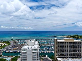 Discovery Bay #2903 Endeavor Tower - 1-bedroom with full kitchen, marina view, washer/dryer, AC, WiFi and parking! - Waikiki vacation rentals