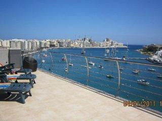 Sliema Seafront Penthouse with pool near beach - Island of Malta vacation rentals