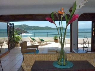 1 Bd Penthouse Condo: Bay View from Large Terrace - Zihuatanejo vacation rentals