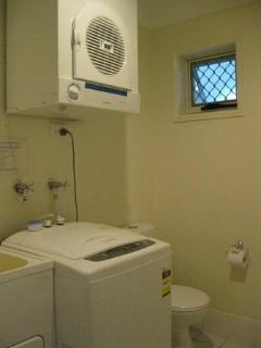 Laundry downstairs plus toilet makes 3 toilets in house. Dryer and washing machine available. - Lorraine & Robert Murray