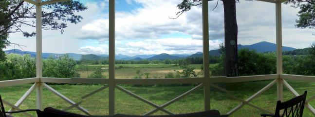 Panoramic View off Back Porch - Panoramic Mountain View Home 1.9 miles to downtown - North Conway - rentals