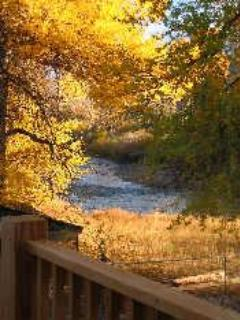 View from back deck - Fly-fish on Wind River, near Yellowstone, Jackson - Dubois - rentals