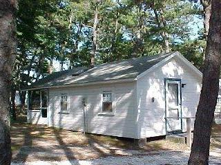 Front view of cozy cabin - 2 bedroom, 1 mile from Wellfleet Ocean! - Wellfleet - rentals