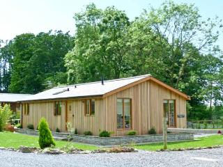 WESTMORLAND LODGE, beautiful log cabin, two bedrooms, woodburning stove, hot tub, pet friendly, in Allithwaite, Ref 13146 - Cumbria vacation rentals