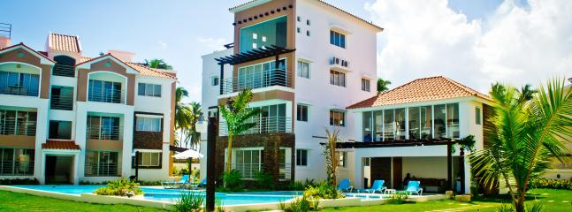 Corte Sea community shot of pool, common area, etc. - Corte Sea 2 BR condo in Bavaro Punta Cana - Punta Cana - rentals