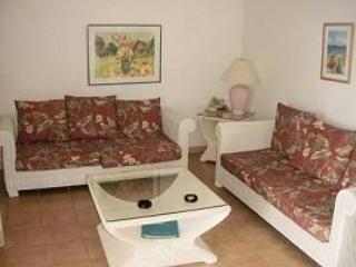 Living Room with queen sleeer sofa - 2 Bedroom Oceanfront-Belair Beach Resort - Saint Martin-Sint Maarten - rentals
