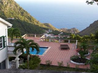 Atop exclusive Troy Hill amid unspoiled tropical rainforests of Saba. WMB CAR - Saba vacation rentals