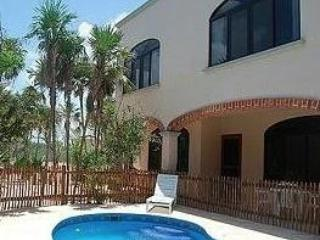 Casa Portuguesa sits on 2 lots lush garden on the ocean front - Quintana Roo vacation rentals