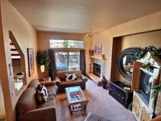 5 Minute Walk to Town, Lift and Pool Complex!!  Private tub on your balcony! - Summit County Colorado vacation rentals