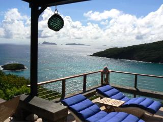 3 bedroom villa, 3 bathroom, expansive, wonderful sea views, plunge pool, tropical gardens (v) - Bequia vacation rentals