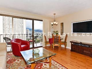 Four Paddle #2311 - Mountain view 1-bedroom with full kitchen, AC, washer/dryer, WiFi, parking. - Oahu vacation rentals