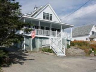 Front of home, taken from Allen Street - Allen Harborview- In-town Home with Amazing Views - Stonington - rentals