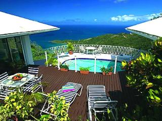 Diamond Crest Villa at Lower Estate, Tortola - Ocean View, Pool, Tropical Garden - British Virgin Islands vacation rentals
