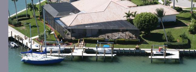 Aerial View - Beautiful Executive Water front home - Marco Island - rentals