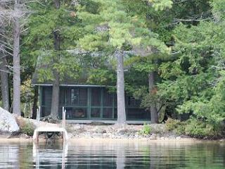 Rustic Lake Winnipesaukee Waterfront Camp in Moultonborough (AUS76W) - Meredith vacation rentals