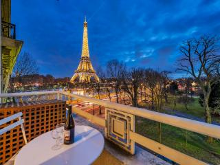 **EIFFEL TOWER VIEW**2 BEDROOMS + A/C - 16th Arrondissement Passy vacation rentals