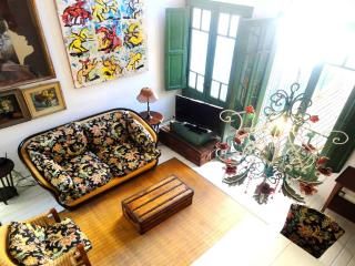 Garden, pool.High celings with colonial chandelier - Buenos Aires vacation rentals