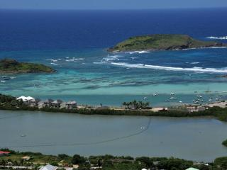 Casa Azul at Vitet, St. Barth - Panoramic View of Ocean and Lagoon, Fully Air-Conditioned - Terres Basses vacation rentals
