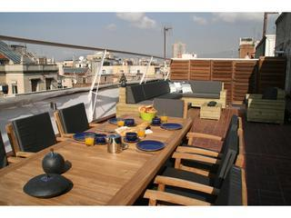 Roof top terrace - Penthouse with terrace in centre, 2 bedrooms - Barcelona - rentals