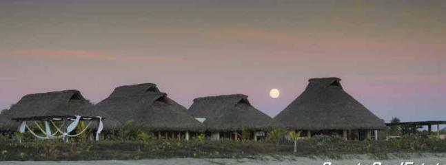 Beachfront view of the Villa Anna at dusk - Casa Anna: 5BR luxury villa on the Oaxacan coast - Puerto Escondido - rentals