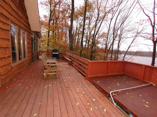 Lakefront Chalet w/ Hot Tub, Dock, Boat, Game Room - Gouldsboro vacation rentals