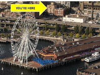 BOOK ONLINE! 100 Walk Score, Elliott Bay Views, Steps to Pike Place Market, STAY ALFRED PA1 - Seattle vacation rentals