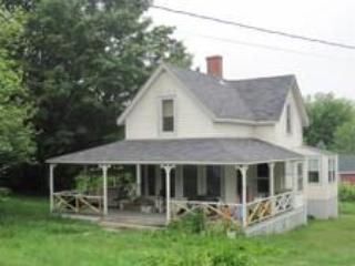 The house from the front, showing large porch. - Fabulous Peaks Island Paradise, near Portland, ME - Peaks Island - rentals