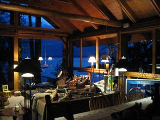 Central Common area: longhouse living room - Waterfront westcoast carriage house retreat rental - Halfmoon Bay - rentals