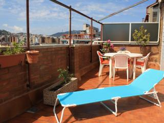 Ideal summer! Sunny top floor with 2 terraces - Barcelona vacation rentals