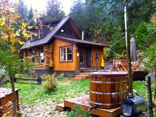 Log Cabin, Wood fired Tub, Private Lake, A Gem - Quebec vacation rentals